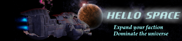 Hello Space Banner